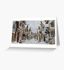 Hogsmeade in the Snow Greeting Card