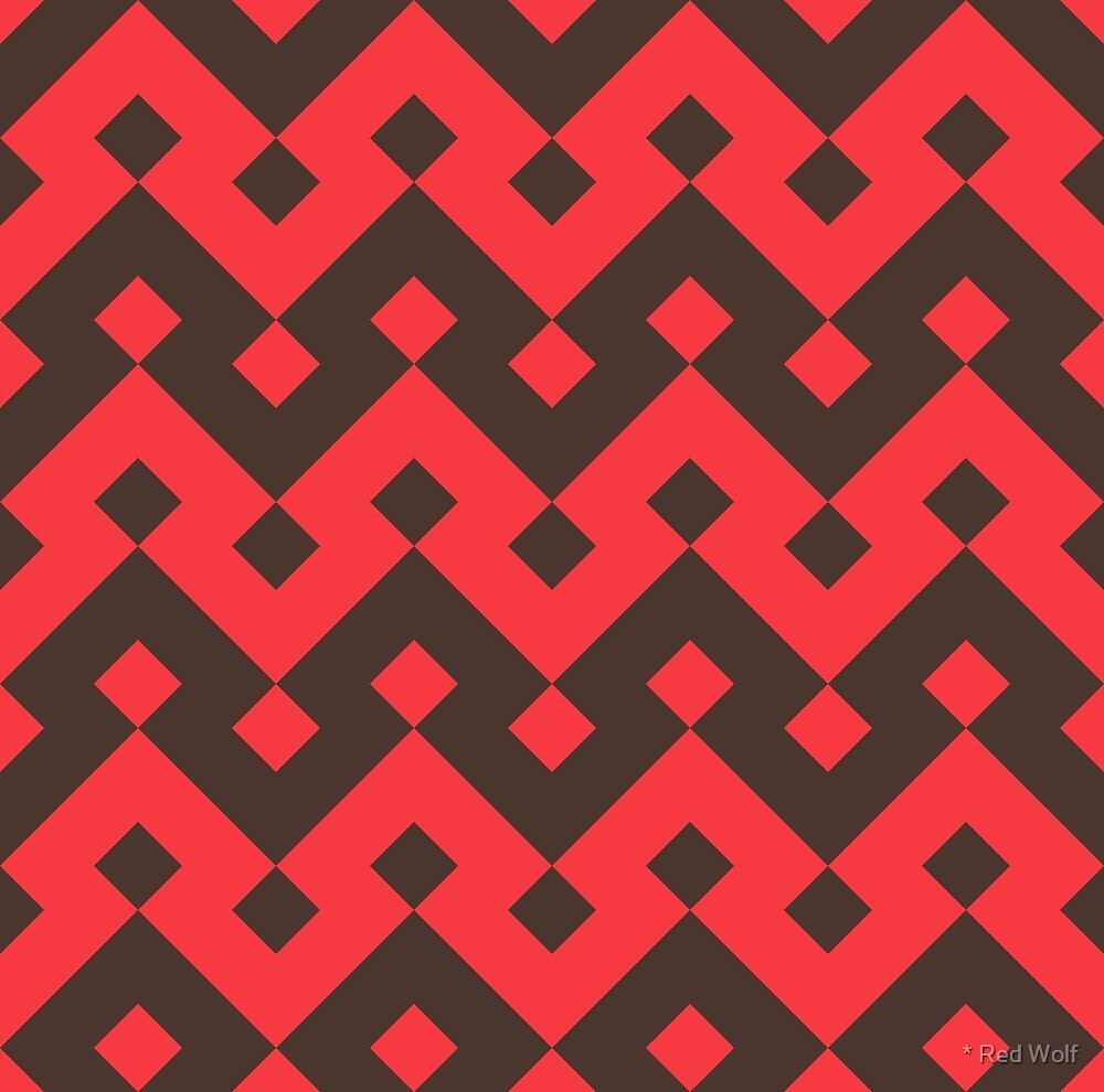 Geometric Pattern: Heavy Loop Diamond: Red by * Red Wolf