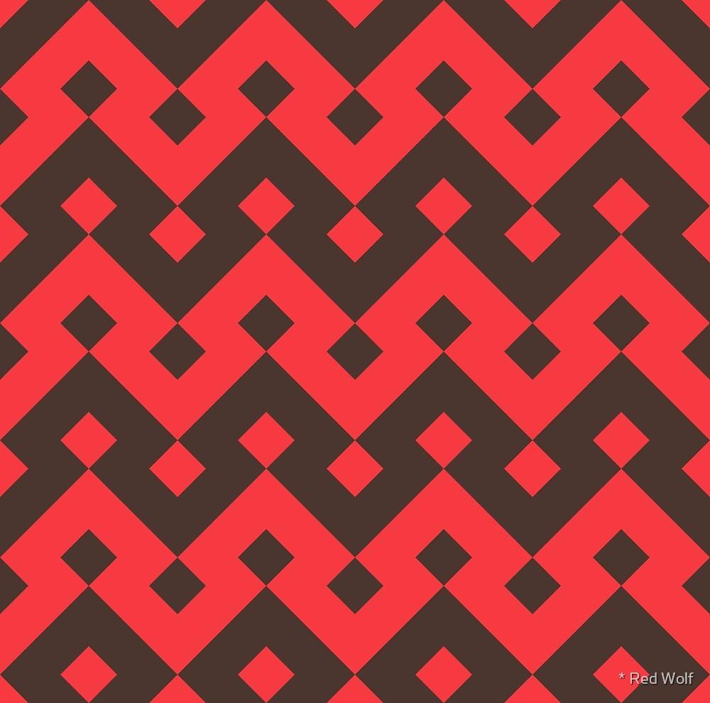 Geometric Pattern: Heavy Loop Diamond: Red by * Red Wolf