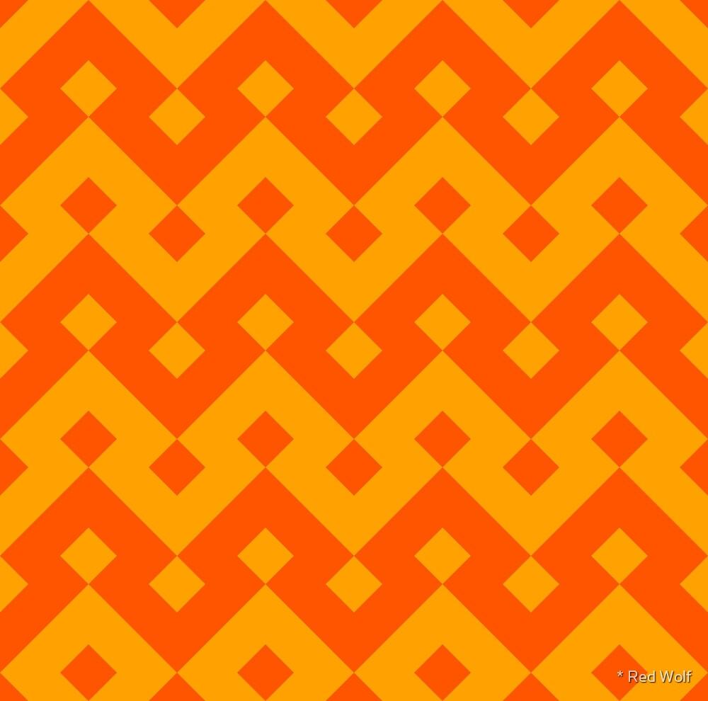 Geometric Pattern: Heavy Loop Diamond: Orange by * Red Wolf