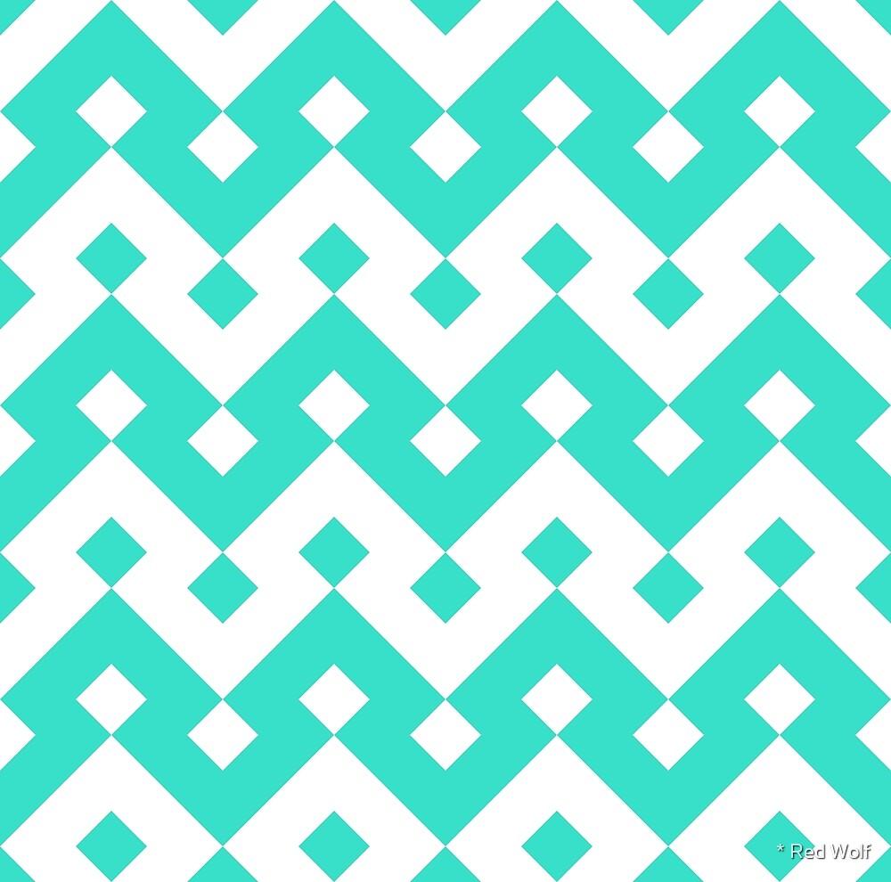 Geometric Pattern: Heavy Loop Diamond: Blue by * Red Wolf