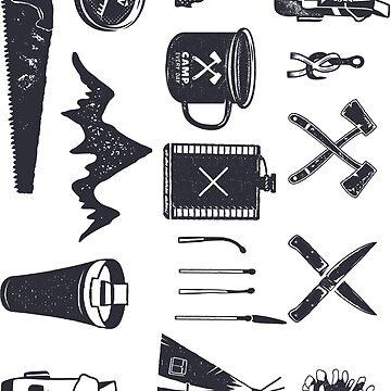Bushcraft Icons and Hiking Symbols by JeksonJS