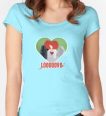 Be my Valentine Ghost! Women's Fitted Scoop T-Shirt