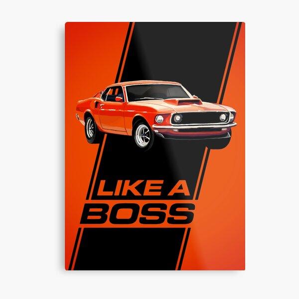 1969 Mustang Boss 429 - Like a Boss! Metal Print