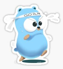 Golang mouse run fast Sticker