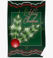 Christmas Holly - Australian Aboriginal Art Poster