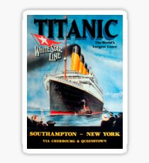 Vintage Titanic Travel Poster 1912 Sticker