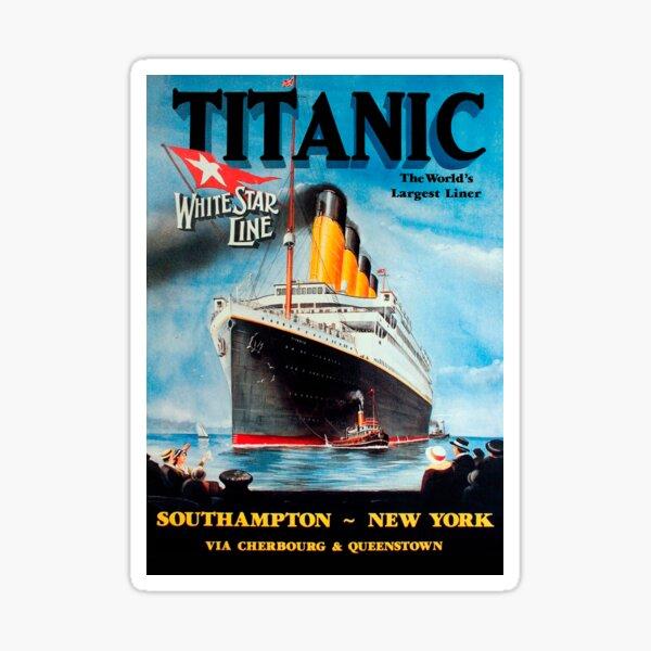 Vintage Titanic Travel Poster 1912 Pegatina