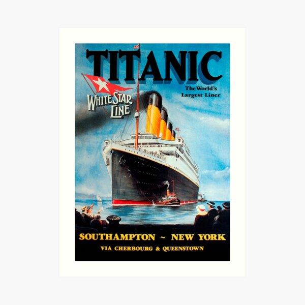 Vintage Titanic Travel Poster 1912 Art Print