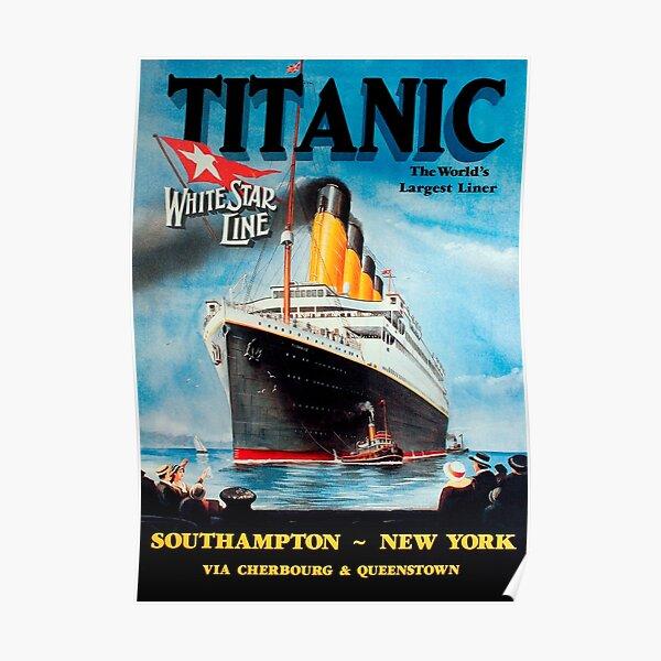 Vintage Titanic Travel Poster 1912 Póster