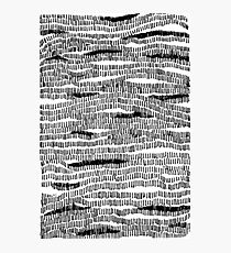 Train to Mystic #Lines #B+W #Sketch #Drawing #Camouflage #Abstract #Stripes #Contours #Wood #Water #Pattern #Woven #knitted #Map Photographic Print