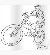 Mountainbiker Poster
