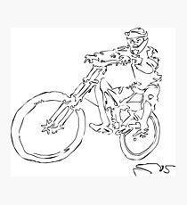Mountainbiker Photographic Print