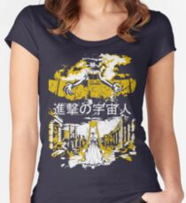 Attack on Moon - Alien Advance Women's Fitted Scoop T-Shirt