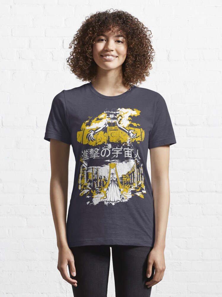 Alternate view of Attack on Moon - Alien Advance Essential T-Shirt