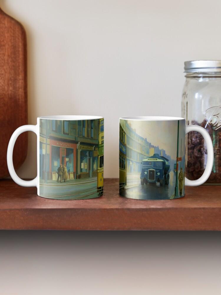 Alternate view of Glasgow tram. Mug