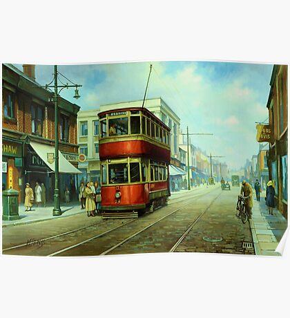 Stockport tram. Poster