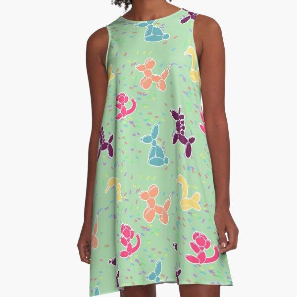 Balloon Animals on Mint A-Line Dress