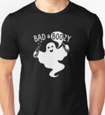 Happy Halloween Party - Funny Bad & Boozy Ghost T-Shirt
