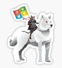 Ninja cat wolf Sticker
