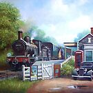 Early railway painting. by Mike Jeffries