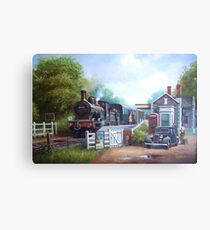 Early railway painting. Metal Print