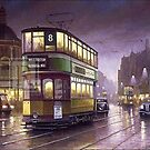 Night tram. by Mike Jeffries
