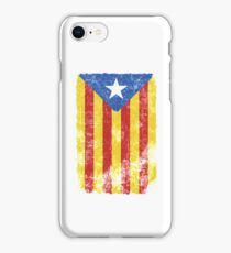 Estelada Flag - Distressed Catalan Independence iPhone Case/Skin
