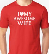 I Love My Wife T Shirts Redbubble