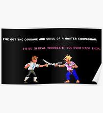 Guybrush - Insult Swordfighting Poster