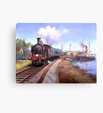 Lymington station. Metal Print
