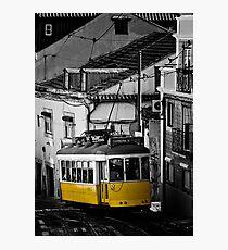 Streetcar in Lisbon Alfama Photographic Print