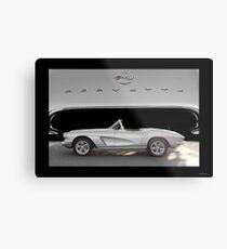 1962 Chevrolet Corvette Roadster 1 Metal Print