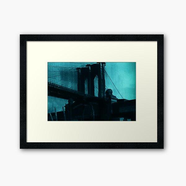 Brooklyn Bridge, Pier 21  Reworked No. 15, Series 4f Framed Art Print