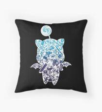 Moogle-verse (blue) Throw Pillow