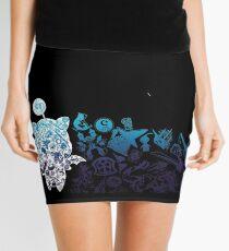 Moogle-verse (blue) Mini Skirt