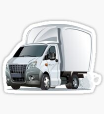 Cartoon delivery or cargo truck Sticker
