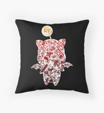 Final Fantasy Moogle-verse (red) Throw Pillow