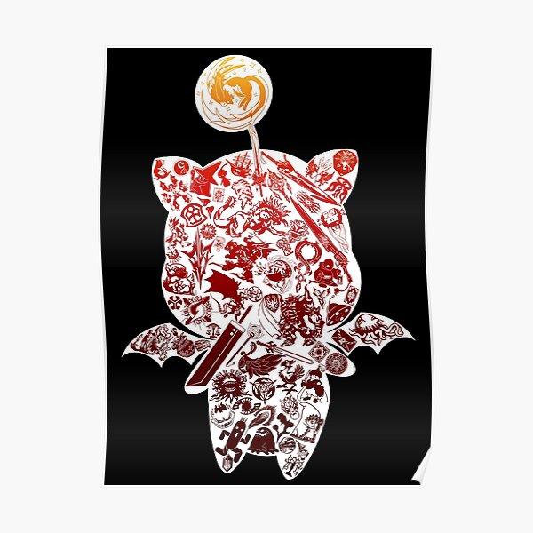 Final Fantasy Moogle-verse (red) Poster