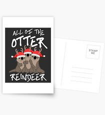 All of the Otter Reindeer Postcards