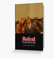 The Royal Tenenbaums - A Film by Wes Anderson  Greeting Card