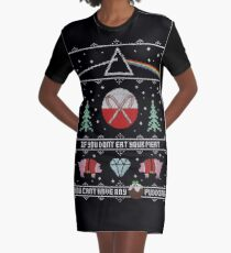 Hey Yule - Pink Christmas Graphic T-Shirt Dress