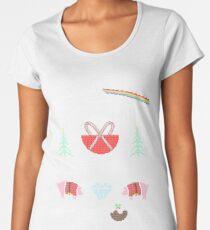 Hey Yule - Pink Christmas Women's Premium T-Shirt