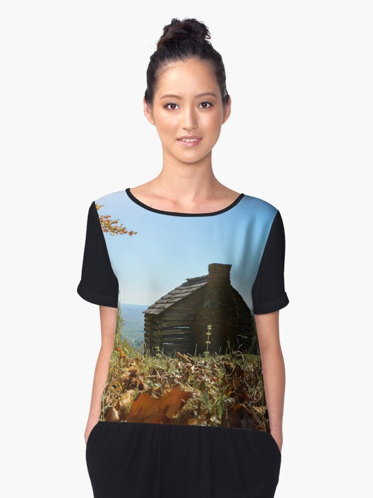 Old Barns Women's Chiffon Top Front