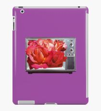 Retro TV with Rose Bouquet Collage iPad Case/Skin