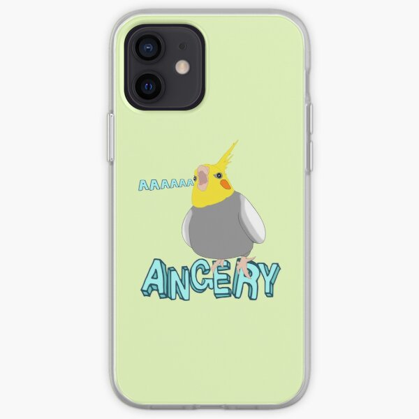 ANGERY - cockatiel - 2 iPhone Soft Case