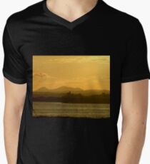 Twilight over Derryveagh mountains - with O'Doherty Castle from Inch Level Men's V-Neck T-Shirt