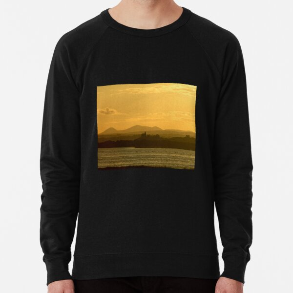 Twilight over Derryveagh mountains - with O'Doherty Castle from Inch Level Lightweight Sweatshirt