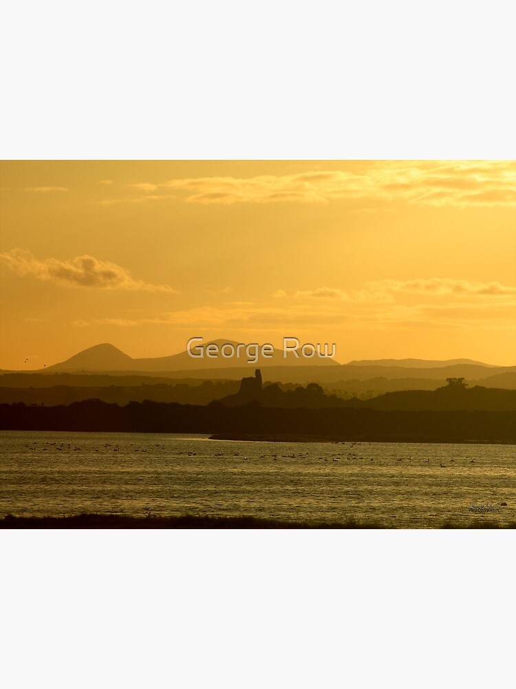 Twilight over Derryveagh mountains - with O'Doherty Castle from Inch Level by VeryIreland