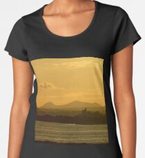 Twilight over Derryveagh mountains - with O'Doherty Castle from Inch Level Women's Premium T-Shirt